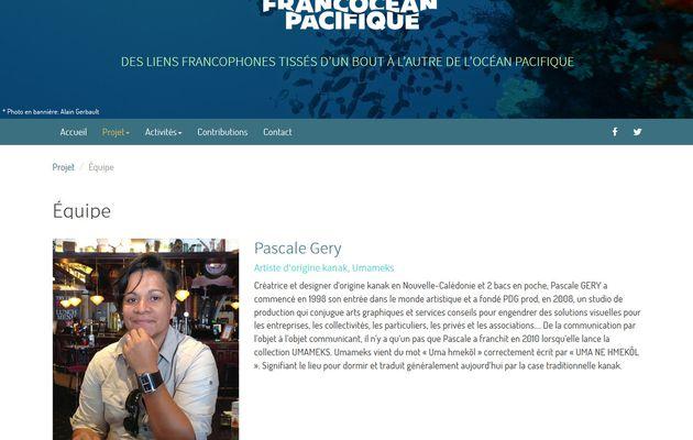 """Pascale GERY dans le projet """"Francocean Pacifique"""""""
