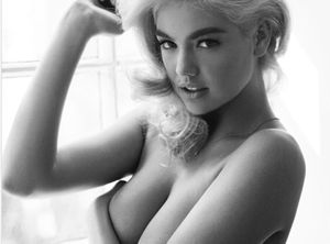Kate Upton jolie Pin-up en noir et blanc !
