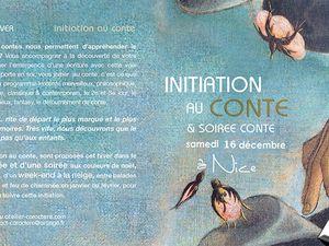 INITIATION AU CONTE, samedi 16 décembre à Nice