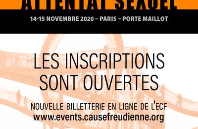 J50 de l'Ecole de la Cause Freudienne - Attentat sexuel - 14-15 novembre 2020 - Paris