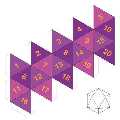 Dé à 20 faces : Icosaèdre