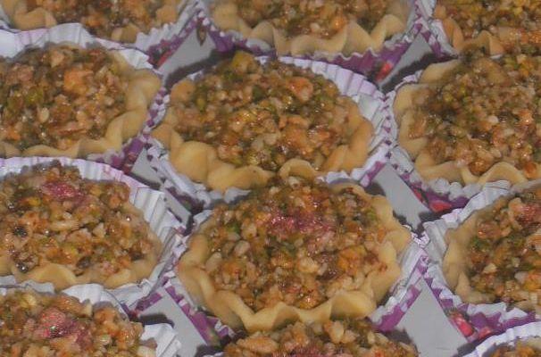 gateau algérien el faloudaj,tartelettes aux fruits secs
