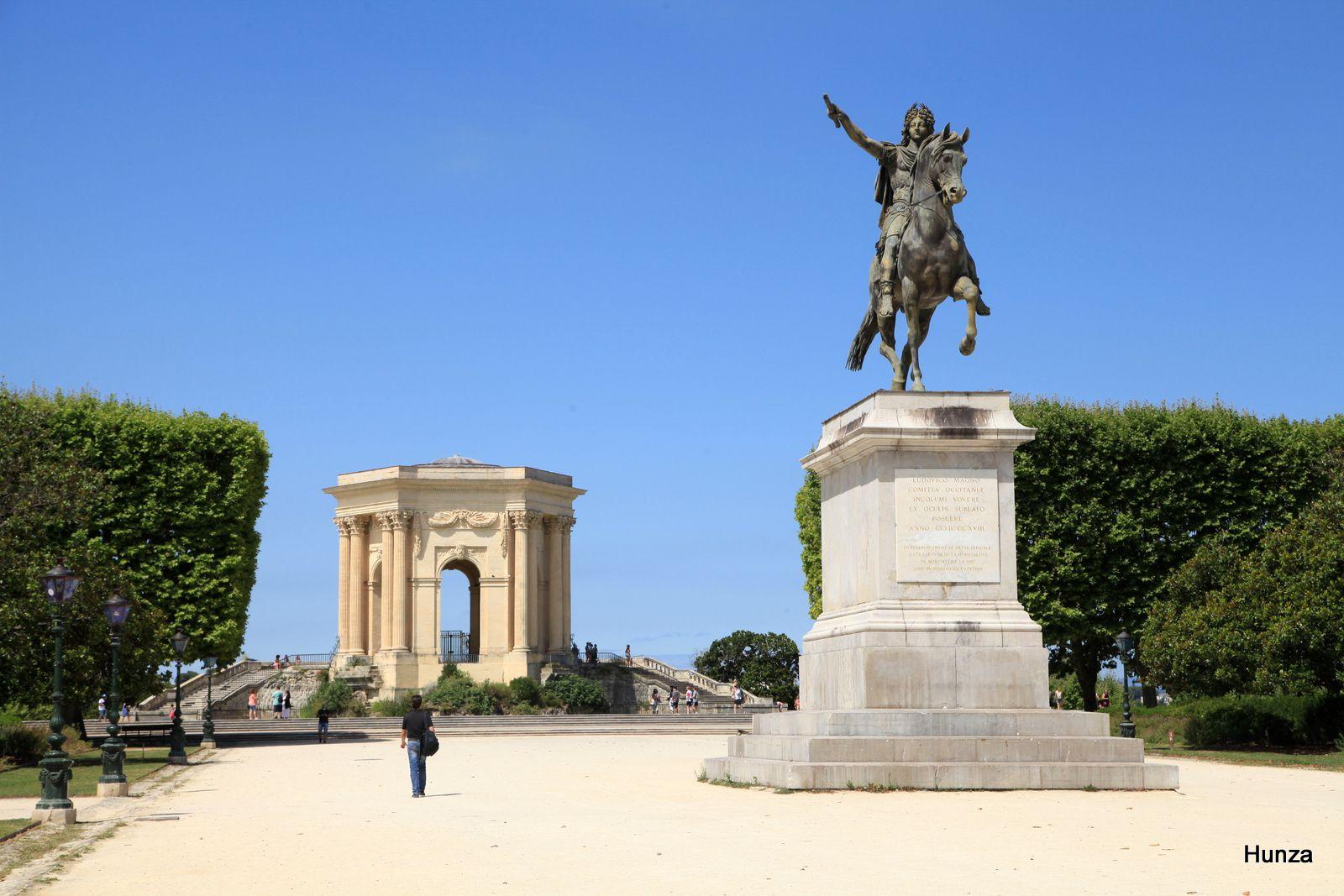 Montpellier, promenade du Peyrou