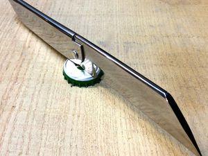 couteaux hirondelle lame XC75, manche inox plié