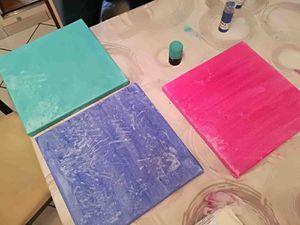 1ère étape : peindre la toile