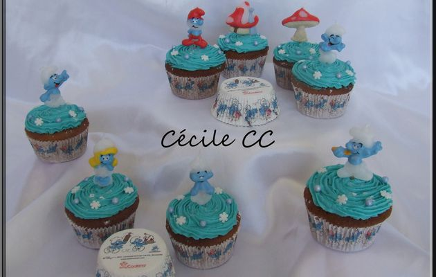 Cupcakes Schtroumpfs.....