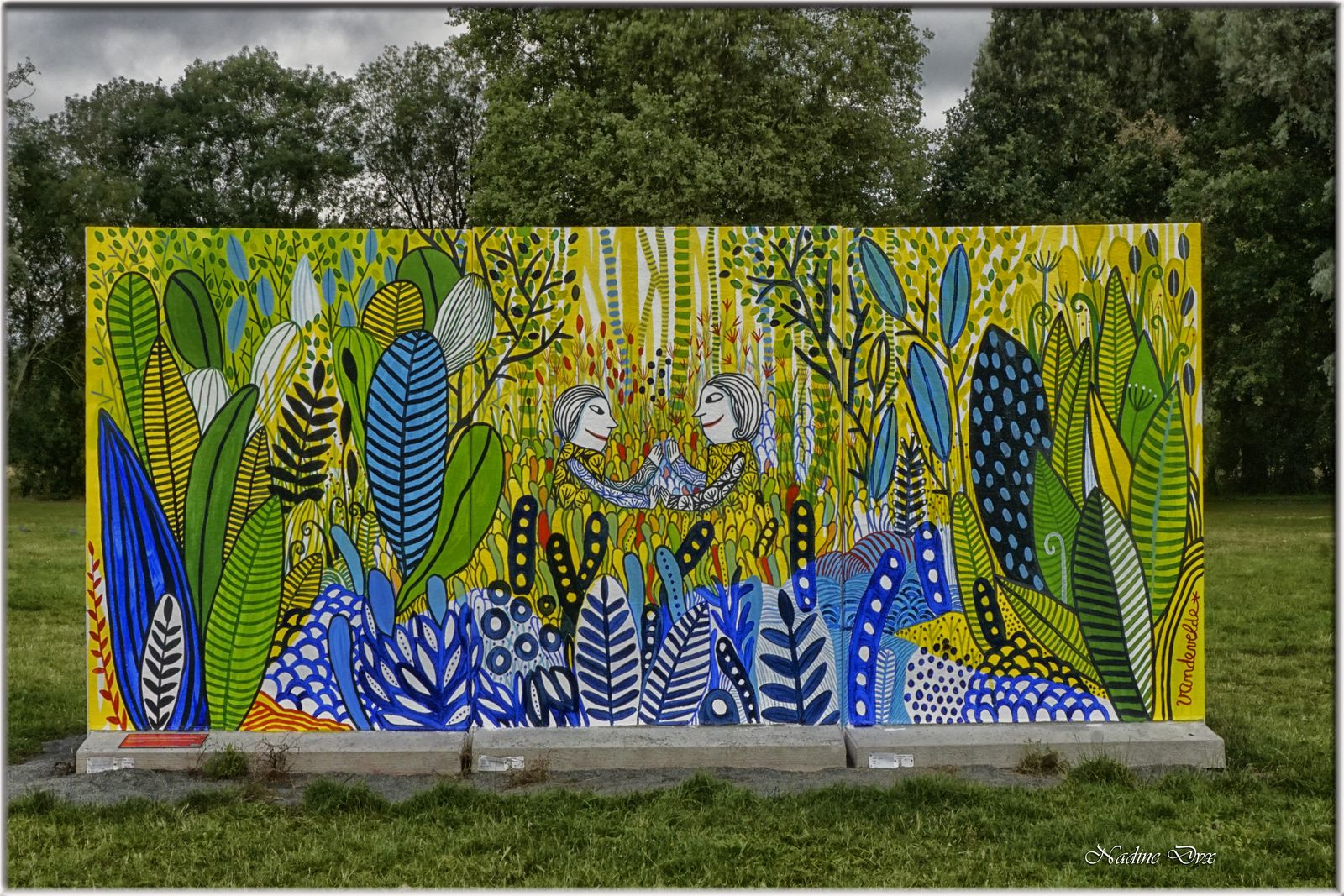 Parcours de Street-Art au parc du Gué-de-Maulny - 2021