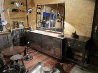 DISPONIBLE. 450€. Grand miroir 5 panneaux en 133 cm de longueur x 103 cm de hauteur.