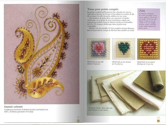 Pintura a la aguja y bordado con perlas