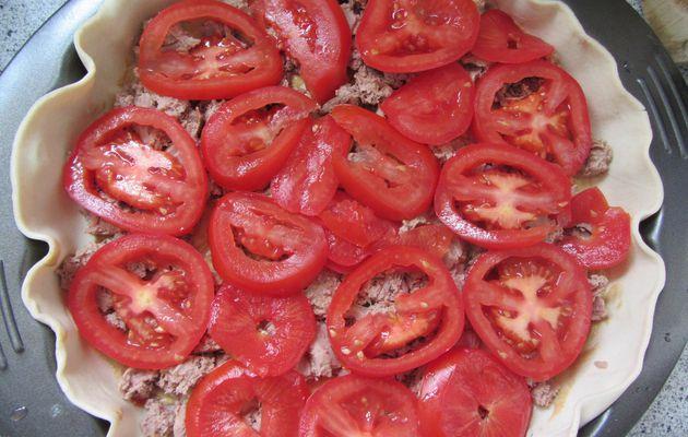 Tarte thon, tomates et moutarde