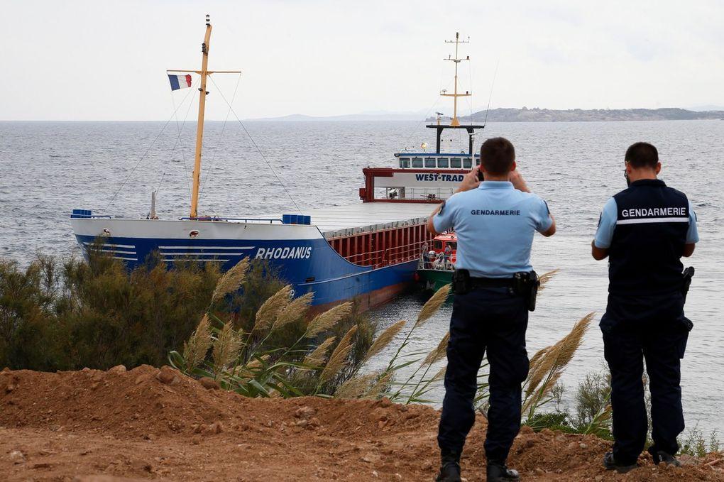 Corse - Le Rhodanus va devoir être allégé avant son déséchouement