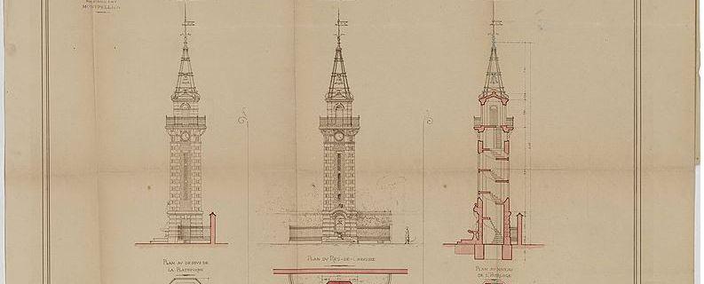 Qui était l'architecte Léopold Carlier qui a conçu la Tour de l'Horloge de Valergues