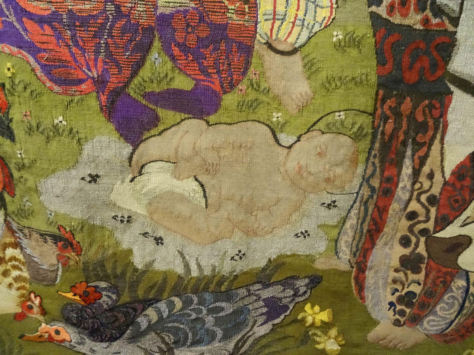 1910/1920 - La nativité - Tapisserie basse-lice laine et soie 295x250cm