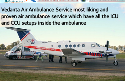 Badly injured patient transferred by Vedanta Air Ambulance Service from Darbhanga to Delhi