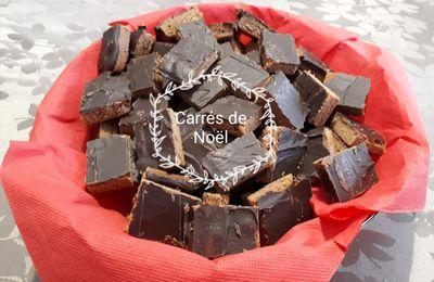 Petits carrés au chocolat-caramel et noisettes