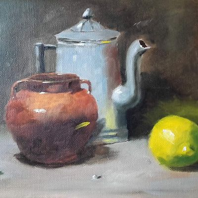 Tentative de copie du peintre Qiang Huang