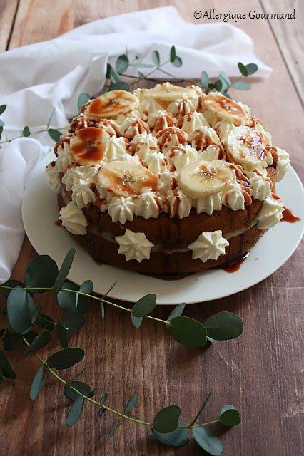 Gâteau façon banoffee sans gluten sans lait sans œufs