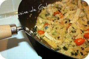 Wok de quinoa au porc