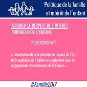 LES 40 PROPOSITIONS POUR LA FAMILLE ET POUR L'ENFANT DE LA MANIF POUR TOUS