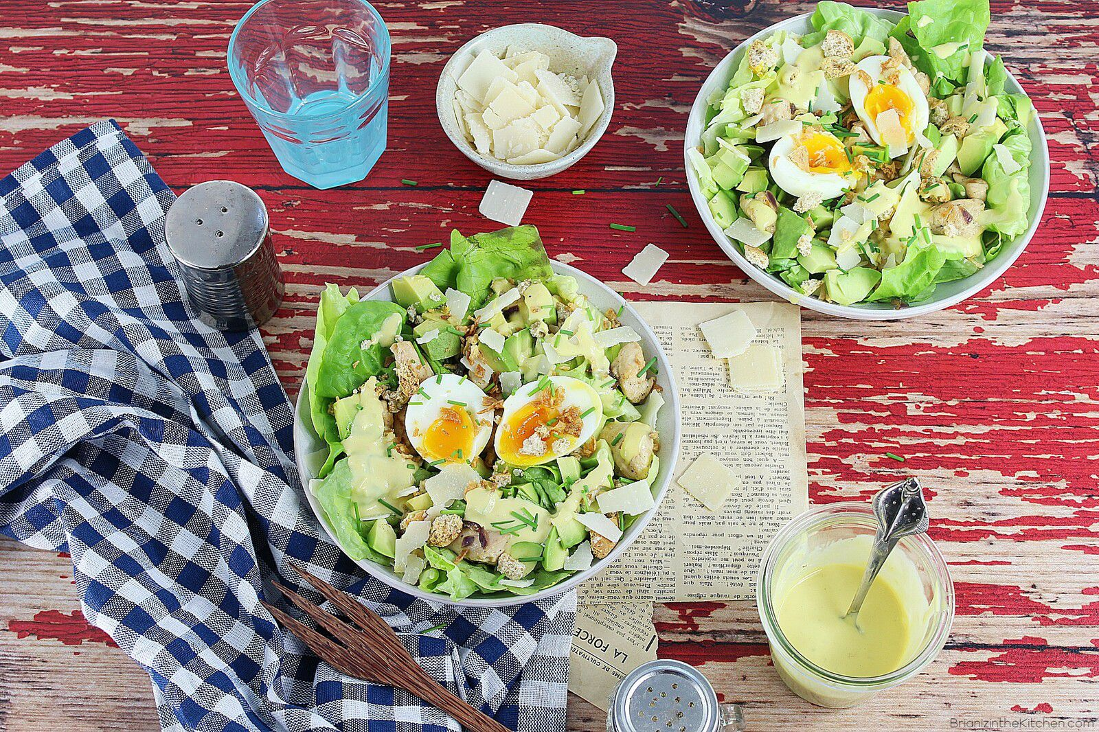 Salade Caesar {Sauce Caesar Maison} 2.0