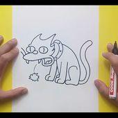 Como dibujar a Bola de Nieve paso a paso - Los Simpsons | How to draw Snowball - The Simpsons
