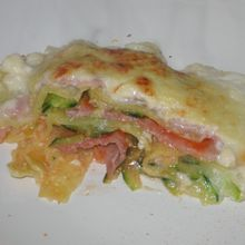 Lasagne jambon-courgettes