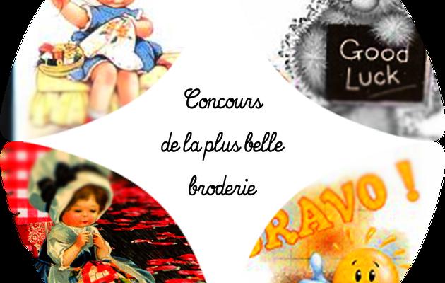 CONCOURS DE LA PLUS BELLE BRODERIE - ENVOI DES LOTS