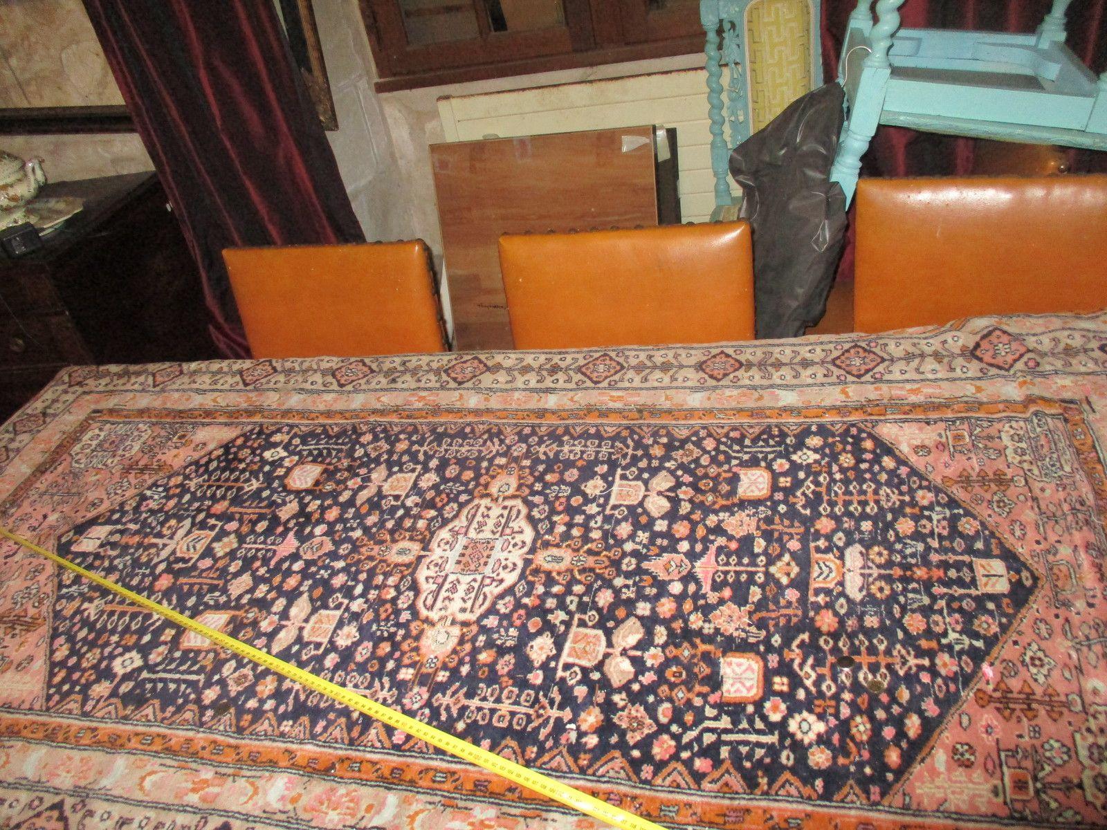 tapis iran ancien fait mains bon etat de 103x190 cm en laine prix 85€