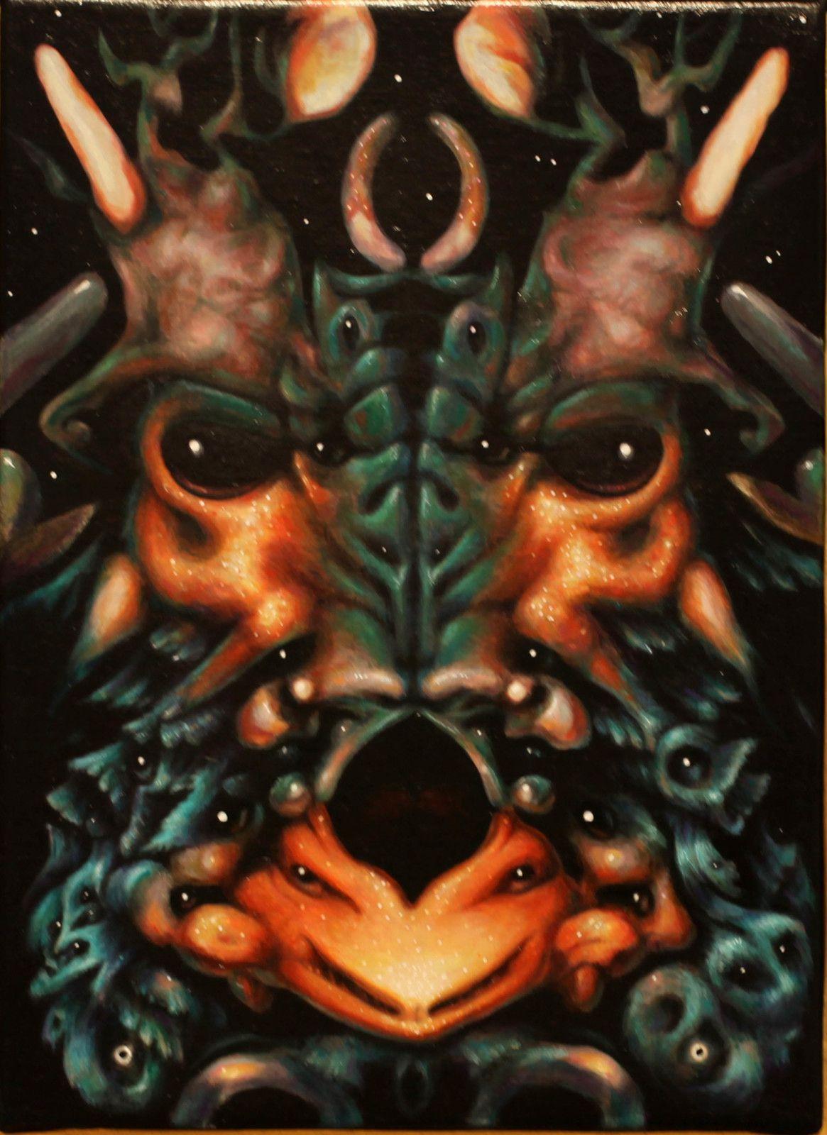 """""""""""Butterfly Divinity (Poseidona)"""", 2018 - 2020 de Philippe MAYAUX - Courtesy de l'artiste et de la Galerie Loevenbruck © Photo Éric Simon"""