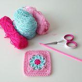 Crochet : Carré 89 & 90 - Le blog de mes loisirs