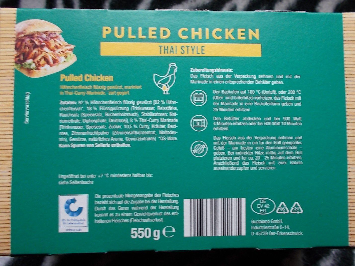 Lidl Vitasia Pulled Chicken Thai Style Slow Cooked