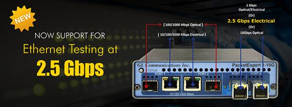 2.5 Gbps Ethernet Testing made easy with PacketExpert™