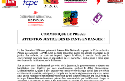Attention, justice des enfants en danger !