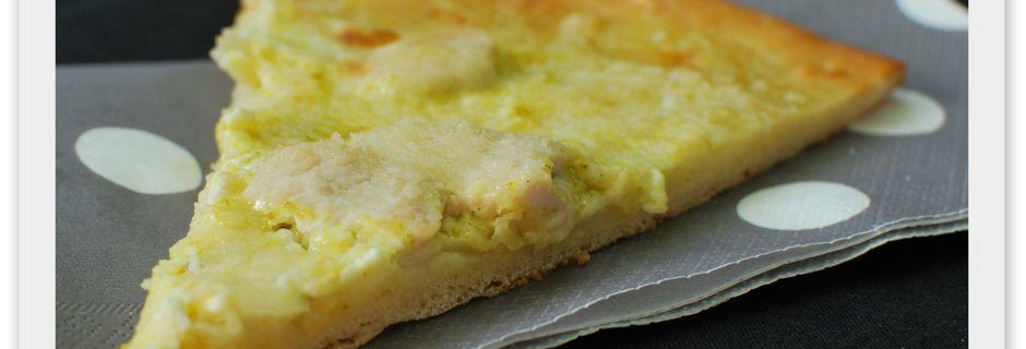 Pizza Noix de Coco, Curry et Poulet