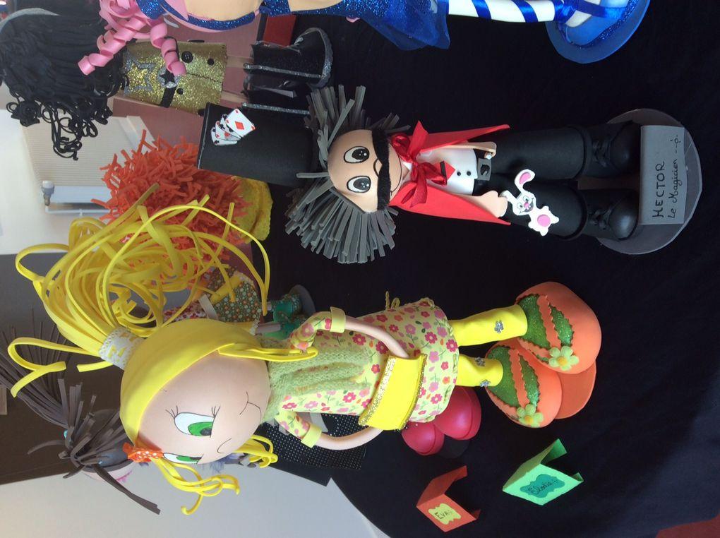 Expo poupées Fofucha, du 01 au 30 avril 2015 à la médiathèque de Périgny