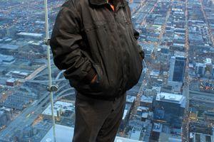 Du haut de la Willis Tower à Chicago(USA)