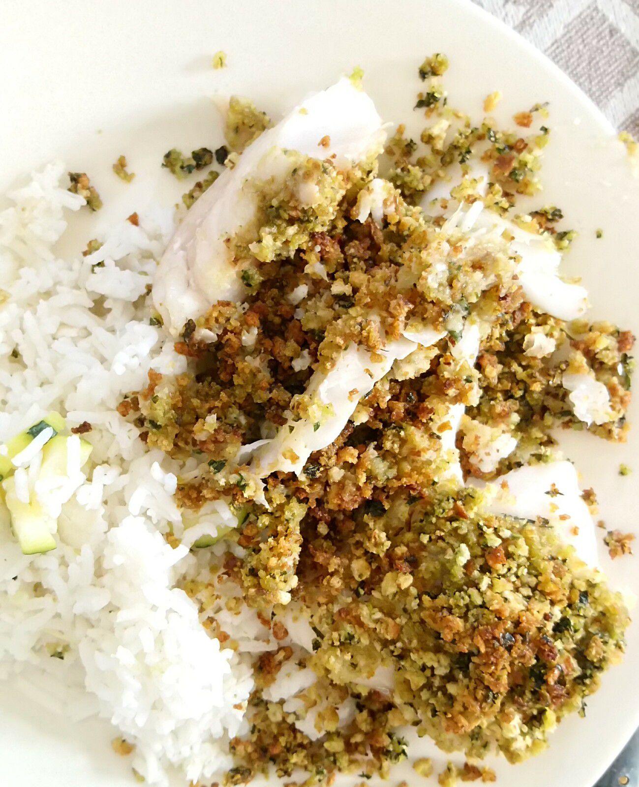 Recette gourmande, rapide et simple : crumble de poisson citron et basilic