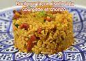 Boulgour façon risotto à la courgette et chorizo