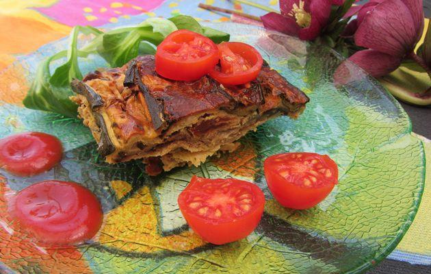Terrine d'aubergine, courgette et tomates séchées
