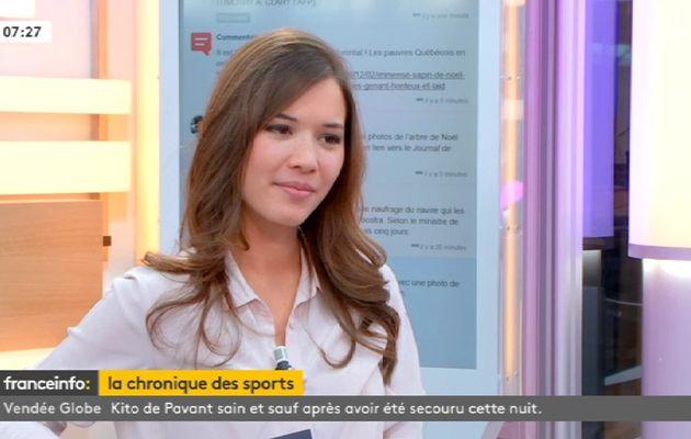 📸 EMILIE BROUSSOULOUX ❤️❤️❤️❤️❤️ @EmilieBrouss ❤️❤️❤️❤️❤️ ce matin pour LA CHRONIQUE DES SPORTS @franceinfo #vuesalatele