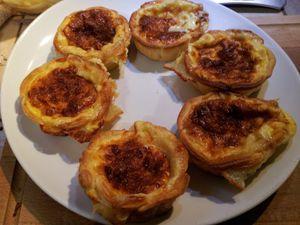 Mini quiches au camembert