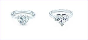 Tiffany anelli con diamanti: luminosi gioielli a cuore