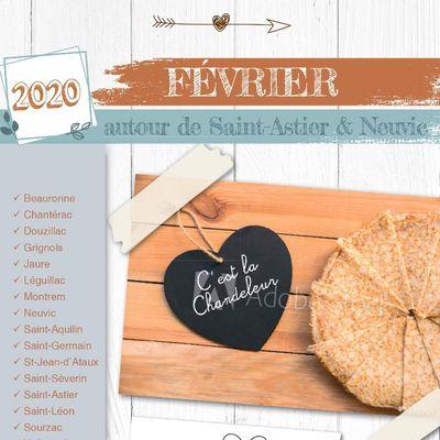 Fêtes et animations février 2020 autour de Neuvic et Saint Astier