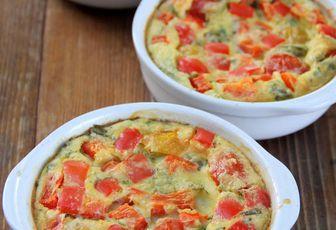 Flans aux légumes & parmesan