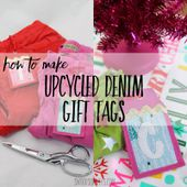 Upcycled fabric gift tag tutorial - Swoodson Says