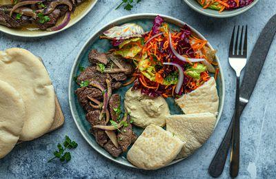 Assiette shawarma au boeuf