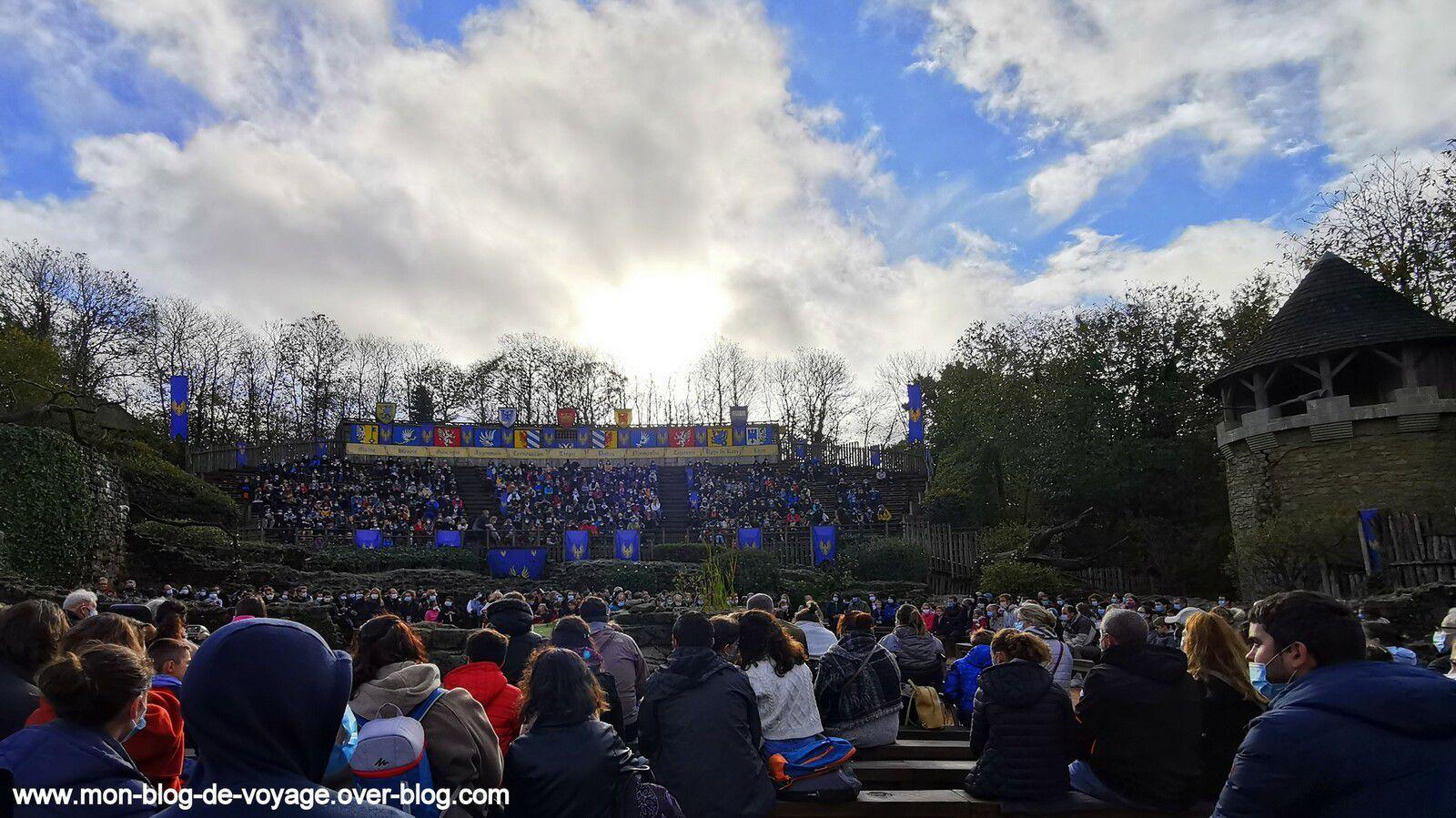 Les six grands spectacles proposés par le parc (octobre 2020, images personnelles)