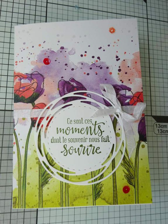 [Stampin'Up!®] Collection Champs de Coquelicot : 2 exemples de carte