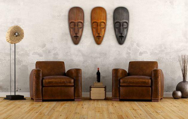Un intérieur aux inspirations africaines
