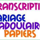 TRANSCRIPTION MARIAGE FRANCO MAROCAIN - PROCÉDURE - Mariage Franco Marocain